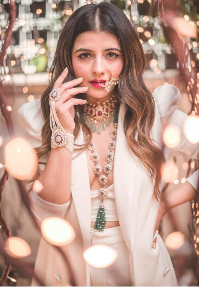Jewellery blogger Natasha Luthra at ANMOL's Navratri photoshoot