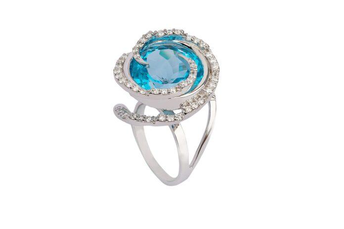 Aquamarine ring Kohinoor jewellers Agra